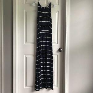 LOFT stripped maxi dress